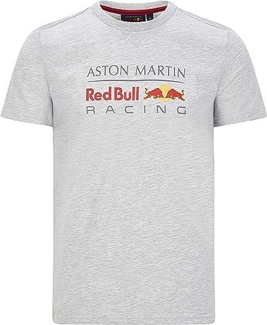 Red Bull Racing F1 - Camiseta para hombre, diseño de logotipo grande, color gris y blanco, XS, Gris