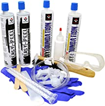 RadonSeal Easy-Peel DIY Concrete Foundation Crack Repair Kit (10 ft) - Easy to Remove Surface Sealer Makes Clean-Up a Breeze