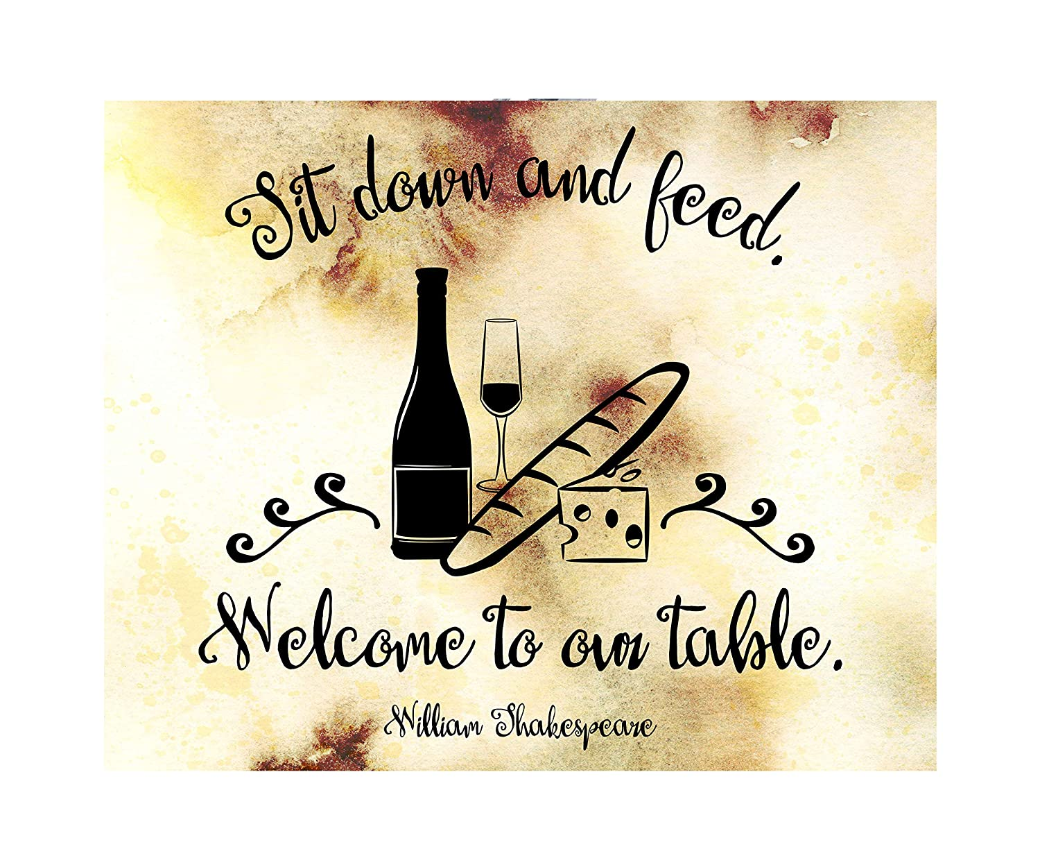 20x16 Welcome to Our Table Canvas Popular overseas Wall Art Print Very popular