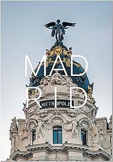 Panorama Póster Ciudad de Madrid 35 x 50 cm - Impreso en Papel 250g - Póster Pared - Cuadros Decoración Salón - Cuadros Dormitorio - Póster Decorativos - Cuadros Modernos
