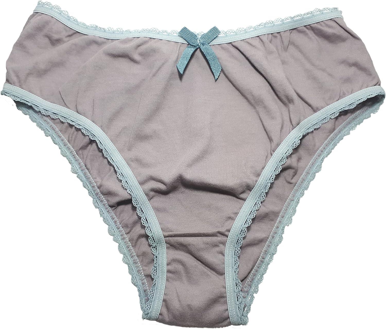 BAMBUSA BRASIL Women's Brazilian Panties Made with 100% Organic Cotton, antiallergic mesh and Vegetable Dyeing