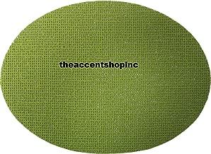 Merritt International Set of 4 Vinyl Fishnet Oval Placemats, Lime Green (23942)