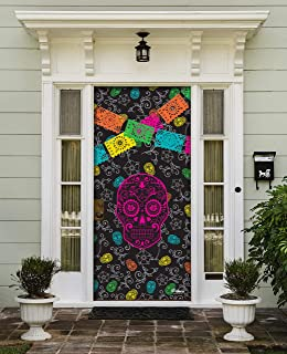 Victory Corps Day of The Dead - Halloween Front Door Banner Mural Sign Décor 36