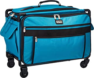 Tutto 9224TMA Turquoise Sewing Machine on Wheels Case, 25 by 18.5 by 13,