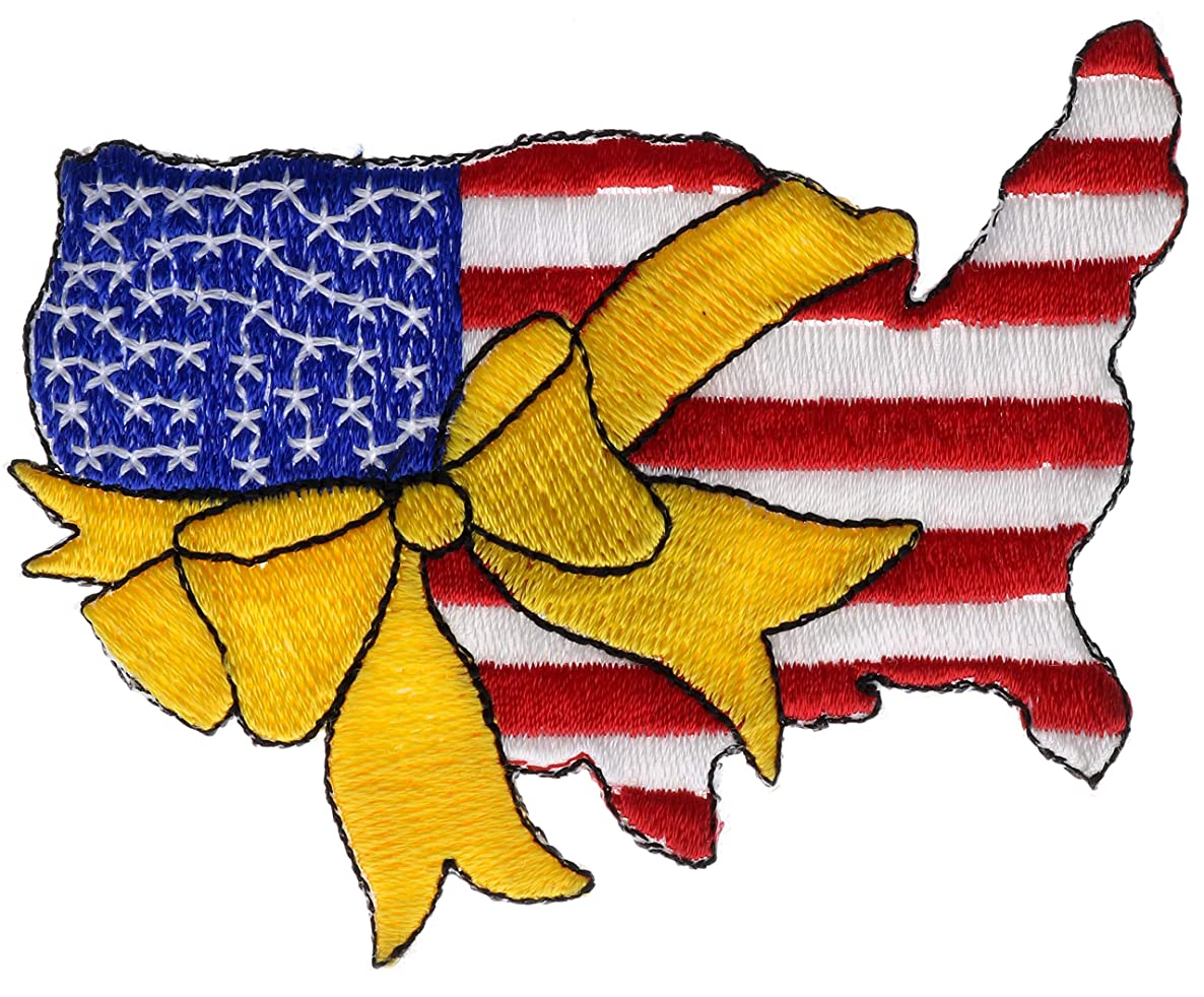 Yellow Ribbon Support Our Troops US Map 3