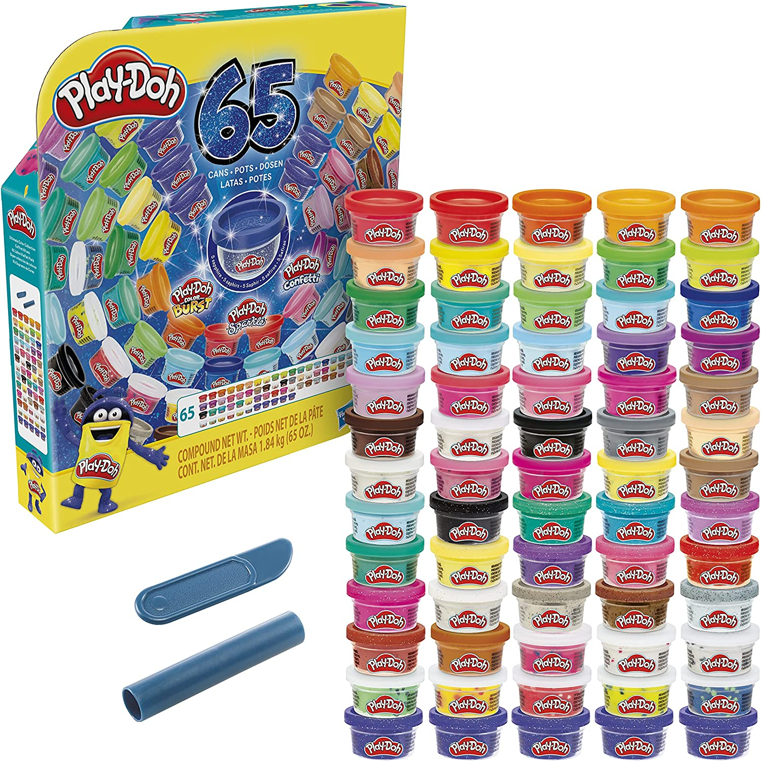 Play-Doh Ultimate Color Las Vegas Mall Import Collection 65-Pack of Compound Modeling