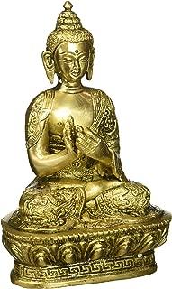 Buddha Meditating Brass Statue Sculpture
