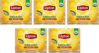 Lipton Organic Tea Bags Tastes Great Hot or Iced Organic Black Tea Can Help Support a Healthy Heart 5.74 oz 72 Count, Pack...