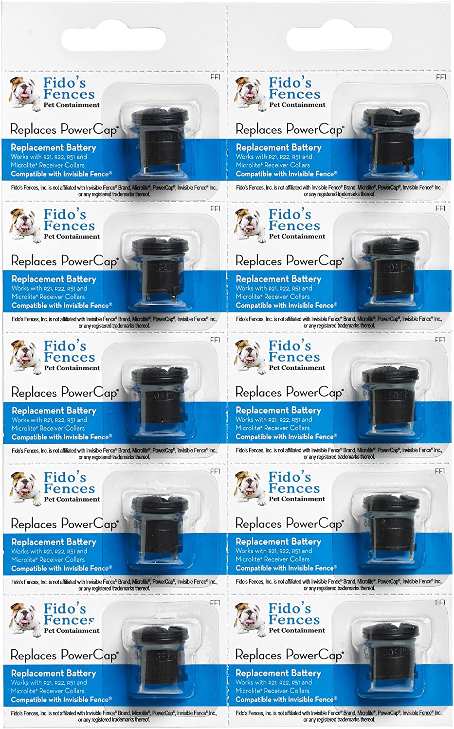 Invisible Fence Compatible batteries (10 Pack)