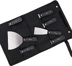 Multifunctionele spatel, draagbaar, van roestvrij staal, flexibel, gelakt, 7 stuks