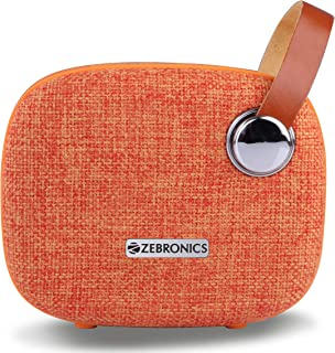 Zebronics Zeb-Knight Fabric Finish Portable BT Speaker with mSD, USB, FM, AUX, Mic & Fabric Finish (Orange)