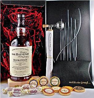 Geschenk Balvenie 12 Jahre Single Malt Whisky  Glaskugelportionierer  Edelschokolade  Fudge