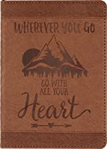 Wherever You Go, Go With All Your Heart Artisan Journal (Vegan Leather Notebook)