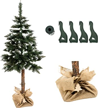 ISO TRADE Árbol de Navidad Artificial 180cm Nieve Soporte de árbol de Navidad 11988