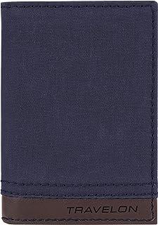Travelon RFID Blocking Courier Slim Wallet, Navy