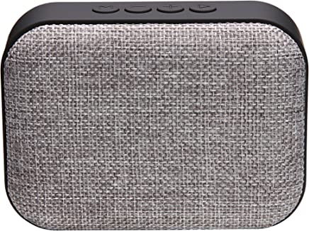 Live Tech Portable Yoga Bluetooth Wireless Speaker with Micro SD/AUX/Mic - Black (Grey)