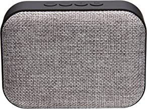 Live Tech Portable Yoga Grey Bluetooth Wireless Speaker with Micro SD/AUX/Mic