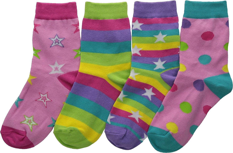 Sperry K. Bell Big Girls' Mix it Up Socks, Multi dots/Stars, Shoe Size: 7.5-13