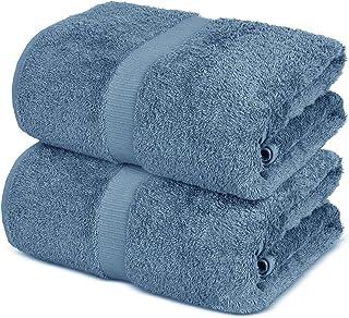 Towel Bazaar 100% Turkish Cotton Bath Sheets, 700 GSM, 35 x 70 Inch, Eco-Friendly (2 Pack, Wedgewood)