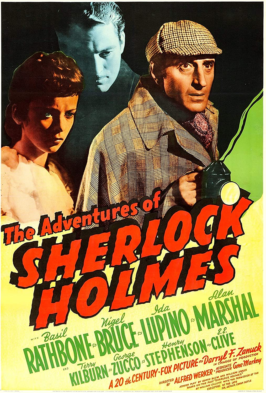 Black Creations The Adventures of Sherlock Holmes Movie Poster Canvas Picture Art Print Premium Quality A0 A1 A2 A3 A4 (A0 Canvas (30 40))