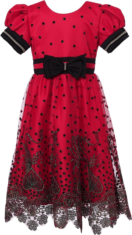 Richie House Little Girls' Polka Dot Party Dress Rh2269 Size 3-7
