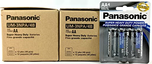 100pc Panasonic AA Batteries Super Heavy Duty Power Carbon Zinc Double A Battery 1.5v