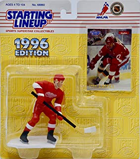 Starting Lineup Paul Coffey / Detroit RED Wings 1996 NHL Action Figure & Exclusive Collector Skybox Trading Card