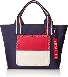 Tommy Hilfiger Women's Classic Tommy Fray Flag Canvas Tote Tommy Navy One Size