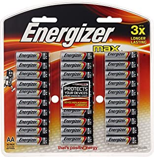 Energizer Max Alkaline AA Batteries, 30 Pack