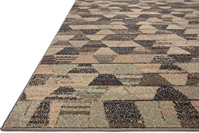 """Justina Blakeney x Loloi Chalos Collection CHA-05 Sand / Graphite, Contemporary Accent Rug, 4'-0"""" x 6'-0"""""""