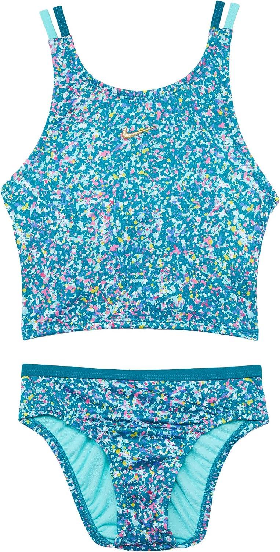 Nike Girl's Pixel Party Spiderback Bikini Little Big K Kids お歳暮 Set 入手困難