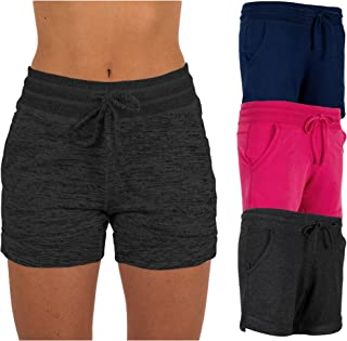 Women's 3 Pack Active Wear Lounge Yoga Gym Casual Sport Shorts