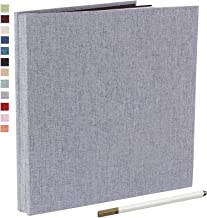 آلبوم عکس چسبنده مغناطیسی خود چسب آلبوم 40 صفحه کتانی Hardcover طول 11 x عرض 10.6 (اینچ) با قلم فلزی و جعبه ذخیره سازی آلبوم عکس مجموعه های لوازم جانبی DIY (خاکستری)