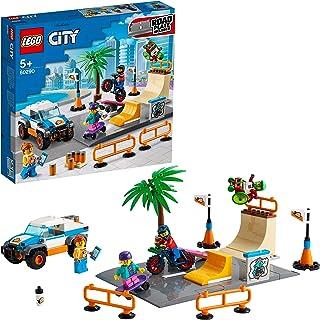 LEGO 60290 City Community Skatepark-Bouwset met Skateboard, BMX-Fiets, Vrachtwagen en Minifiguur van Rolstoelatleten