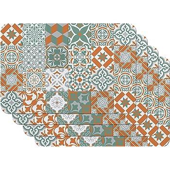 Polypropyl/ène 45 x 30 cm 4 pcs Antid/érapant R/ésiste /à La Chaleur et Fait Venilia Set de Table Green 59039