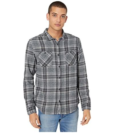 RVCA Mazzy Flannel Long Sleeve Button Up Shirt (Black) Men