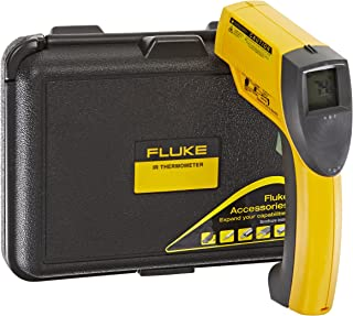 Fluke 63 Handheld Infrared Thermometer, 9V Alkaline Battery, -25 to +999 Degree F Range