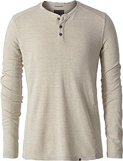 Royal Robbins Men's Long Sleeve T-Shirt Hemp/Cotton Blend Mountain Henley Creme (XX-Large)