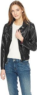 Women's Faux Leather Classic Moto Jacket