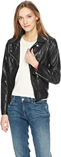 Tommy Hilfiger Women's Faux Leather Classic Moto Jacket