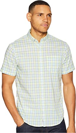 Short Sleeve Stretch Nep Plaid