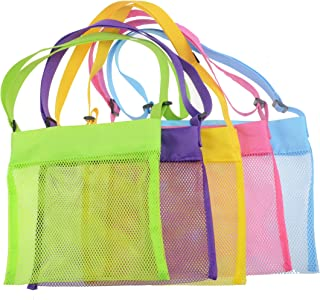 Shenglong Mesh Beach Bags,Seashell Mesh Bags(Set of 5)