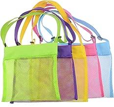 Shenglong Mesh Beach Bags,Seashell Mesh Bags(Set of 5) (5)