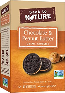 Back to Nature Cookies, Non-GMO Peanut Butter & Chocolate Crème, 9.6 Ounce (Packaging May Vary)