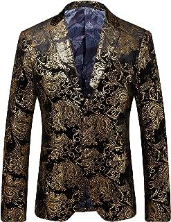 Men's Casual Glitter Suit Stylish Slim Fit Blazer Jacket