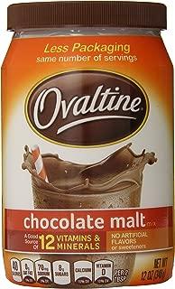 Nestle Ovaltine Chocolate Malt, 12-Ounce Tubs (Pack of 6)