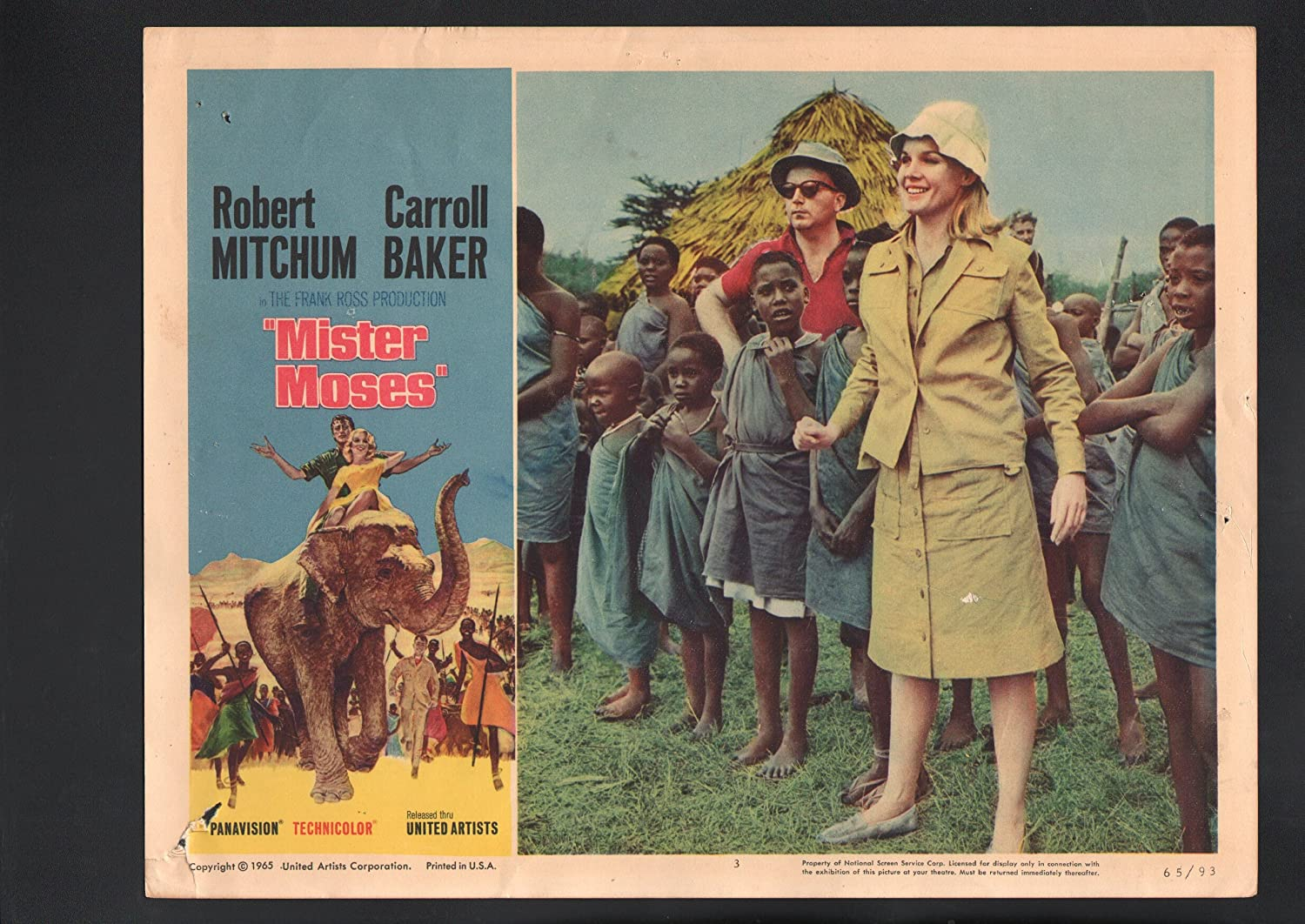 MOVIE POSTER: Mister Moses Boston Mall Max 81% OFF Baker Lobby #3-1965-Carroll Card