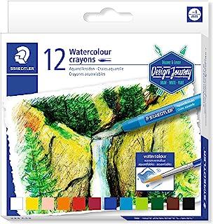 STAEDTLER 223 C12 Watercolour Karat Aquarell Crayons - Multi-Colour (Pack of 12)