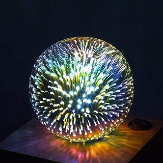 Aokairuisi 3D Decoration LED Light Bulb with E26 Base Fireworks Ball Filament Bulb for Home Bar Party (G95)