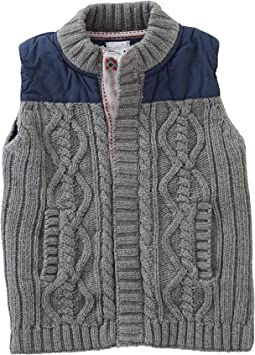 Mud Pie - Cable Sweater and Nylon Vest (Infant/Toddler)